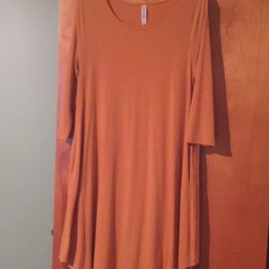 Soft and comfortable gold tunic dress